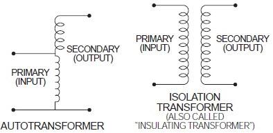 autotransformer vs isolation transformer
